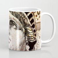 new york Mugs featuring new york new york by Bekim ART