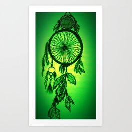Dream catcher - Enhanced Art Print