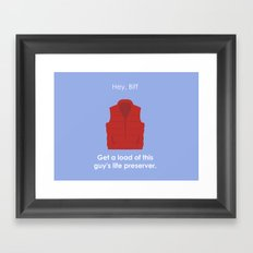 Back to the Future - Life Preserver Framed Art Print
