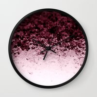 crystals Wall Clocks featuring Burgundy CrYSTALS by 2sweet4words Designs