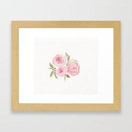 Christmas Rose-watercolor Framed Art Print