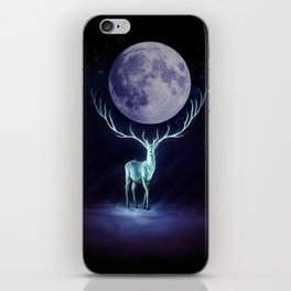 Moony Deer at Night iPhone Skin
