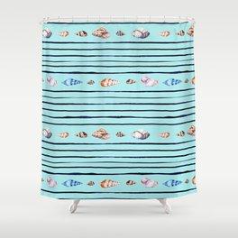 Pacific ocean sea shells Shower Curtain