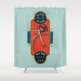 Bikes Bring You Places That Cars Never See Shower Curtain