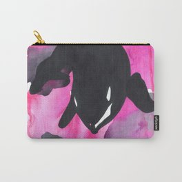Diving Orca - Pink Carry-All Pouch