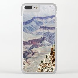 View into the Grand Canyon, South Rim Clear iPhone Case