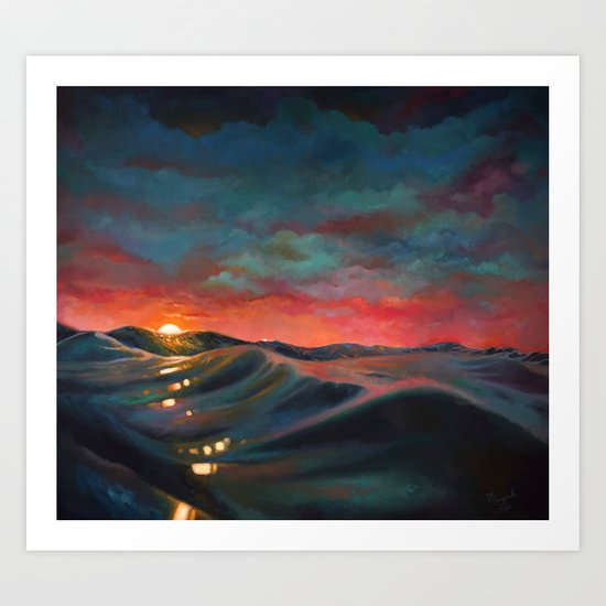 Before The Night Storm Art Print