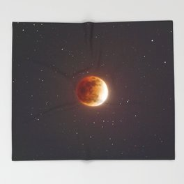 Lunar Eclipse Blood Moon Throw Blanket
