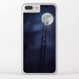 Moon up Clear iPhone Case