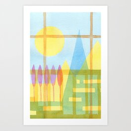 From the inside out -watercolor landscape Art Print