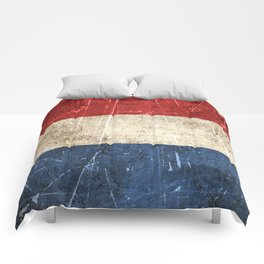 Vintage Aged and Scratched Dutch Flag Comforters