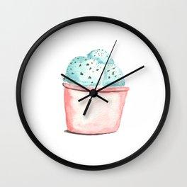 Mint Chocolate Ice Cream Wall Clock