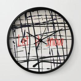 Best foot forward - Let it snow Wall Clock