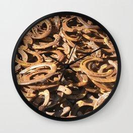 good luck - horseshoes Wall Clock