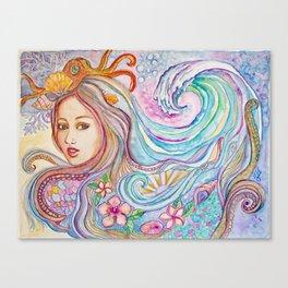 Mermad Hair Canvas Print