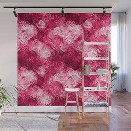 Neon Pink Metallic Patchwork Foil Wall Mural