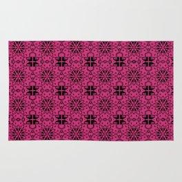 Pink Yarrow Star Geometric Rug
