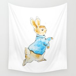 Peter Rabbit Running away Wall Tapestry