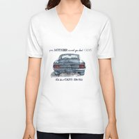 mustang V-neck T-shirts featuring Mustang by dareba