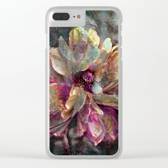 Abstract poppy(3). Clear iPhone Case