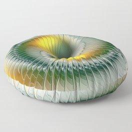 Like Yin and Yang, Abstract Fractal Art Floor Pillow