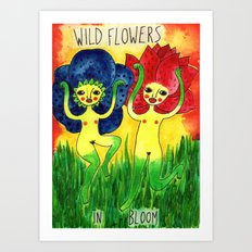 wild flowers in bloom Art Print