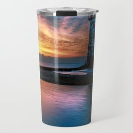 Light House Sunset Travel Mug