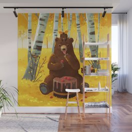 Chocolate cake and the bears Wall Mural