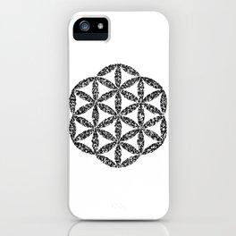 Flower of Life : Kanji Calligraphy Art iPhone Case