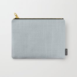 Purely Refined Light Pastel Blue Grey Solid Color Pairs To Sherwin Williams Upward SW 6239 Carry-All Pouch