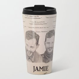 Jamie Dornan Words Travel Mug