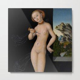 "Lucas Cranach the Elder ""Lucretia"" 4. (1528) Metal Print"