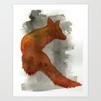 robert farkas Art Prints featuring Ode to Robert Farkas by Brown Paper Bunny