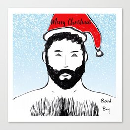 Beard Boy: Santa Baby Canvas Print
