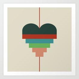 heart geometry Art Print