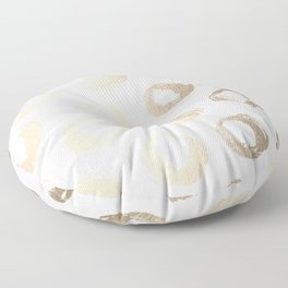 Luxe Gold City Dot Circles Floor Pillow