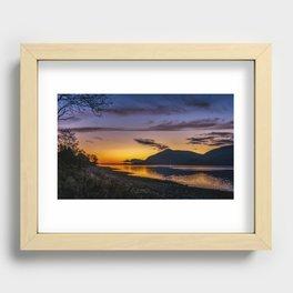 The Blue Hour over Loch Linnhe - Scottish Highlands Recessed Framed Print