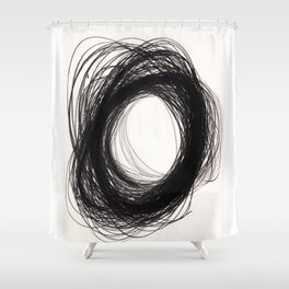 power of lines Shower Curtain