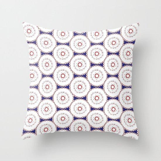 Kaleidoscope Circles Throw Pillow