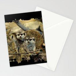 African Meerkat Trio Stationery Cards