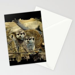 African Meerkat Trio Stationery Cards
