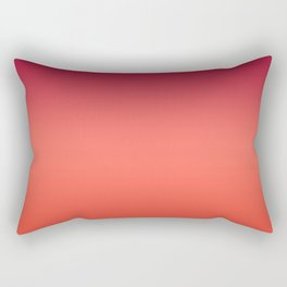Living Coral Fiesta Jester Red Gradient Ombre Pattern Rectangular Pillow