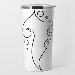 Tina / تينة (lineart) Travel Mug