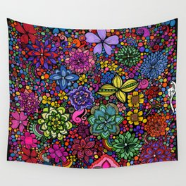 Flowers on the Brain Wall Tapestry