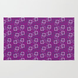 Interlocking Squares - Purple Rug