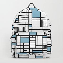Map Lines Sky Blue Backpack