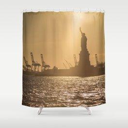 """Lady Liberty 2"" by Murray Bolesta Shower Curtain"