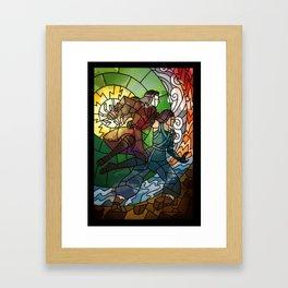 Korrasami - Fighting Duo Framed Art Print