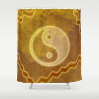 yin yang Shower Curtains featuring Yin & Yang by Melanie Viola