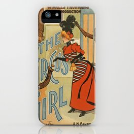 Vintage poster - The Circus Girl iPhone Case